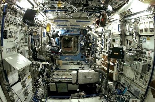 Inside the ISS Columbus module